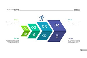 Four Steps Development Slide Template