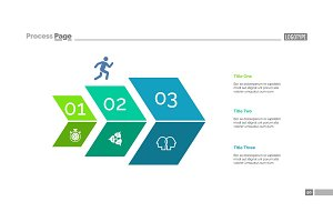 Three Steps Development Slide Template