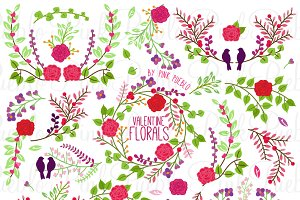 Valentine's Day Florals and Laurels