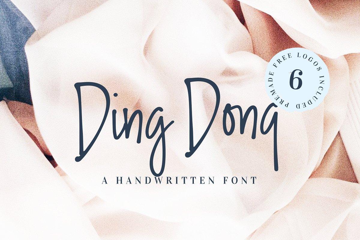 Ding Dong Handwritten Font + Logos