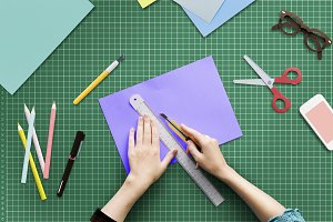 Cutting Paper Stationery Workstation