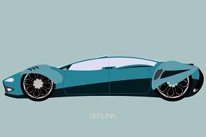 berlina futuristic supercar