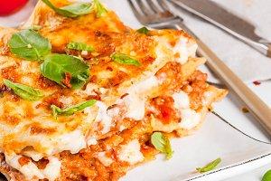 Classic lasagna bolognese