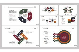 Seven Finance Charts Slide Templates Set