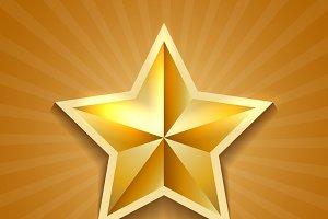 Golden star poster