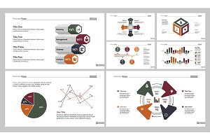 Seven Statistics Slide Templates Set