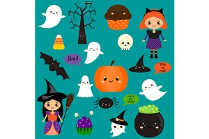 Cute Halloween elements