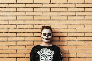 Portrait of boy disguised. Halloween