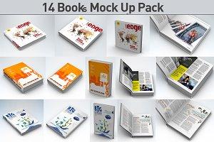 14 Book Pack Mock Up