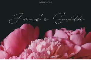 Janes Smith | Handwritten font
