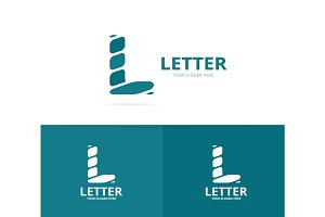 Unique vector letter L logo design template.