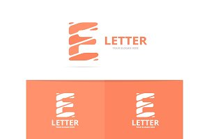 Unique vector letter E logo design template.