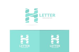 Unique vector letter H logo design template.