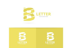 Unique vector letter B logo design template.