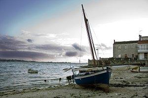sailboat on the beach