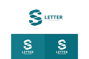 Unique vector letter S logo design template.
