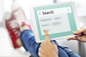 Search engine box random