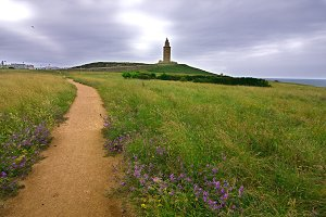 way to the tower of Hercules in A Co