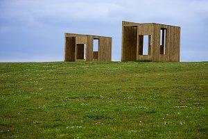 wooden houses, coruña, spain