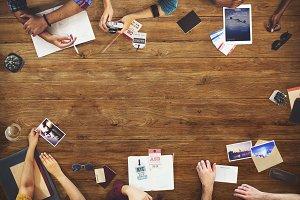People Meeting Planning Trip
