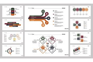 Ten Business Slide Templates Set