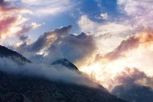 Breathtaking awesome mountain