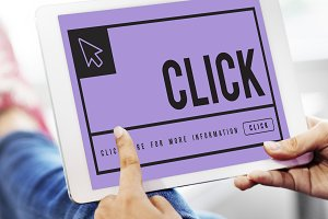 Click Mouse Cursor Sign