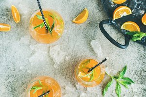 Refreshing citrus cocktail