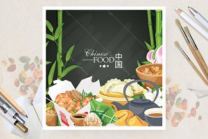 Chinese food poster