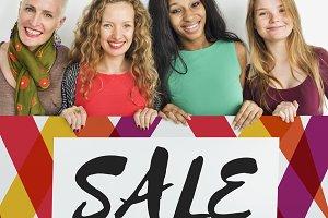 Diverse women is enjoy shopping