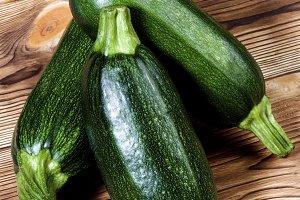 Fresh Ripe Zucchini