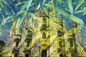 Milan cathedral - Double exposure