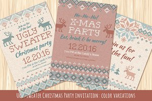 Ugly Sweater Christmas Party Invite