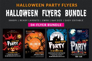 halloween party flyer flyer templates creative market