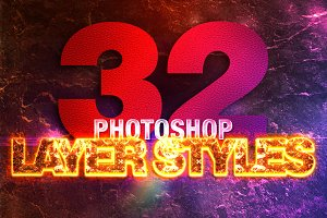 32 Photoshop Layer Styles