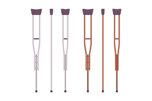 Axillary crutches set