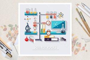Chemistry. Vector poster
