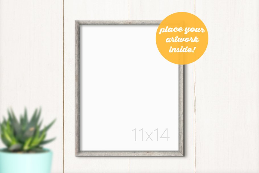 Hanging Frame Mockup with Succulent