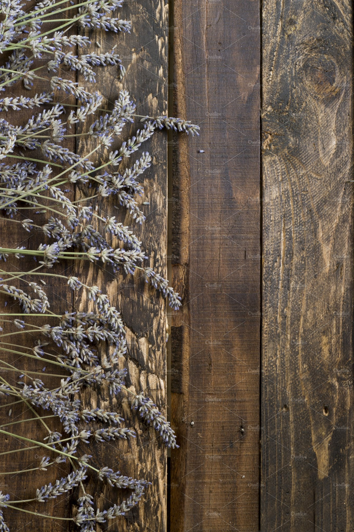 Lavender On Rustic Wooden Background Abstract Photos