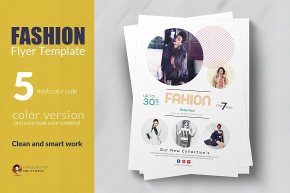 fashion flyer template flyer templates creative market
