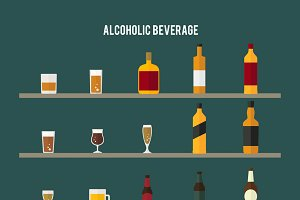 Illustration of alcoholic beverages