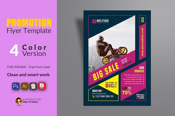 promotion flyer template flyer templates creative market