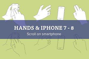 Scroll on Apple iPhone 7 - 8