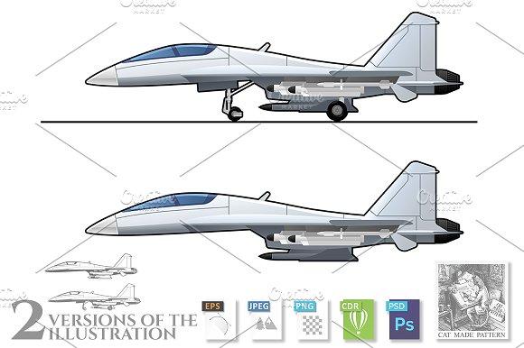 illustration of jet fighter