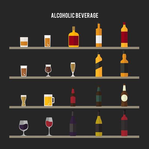 Illustration of alcoholic beverages