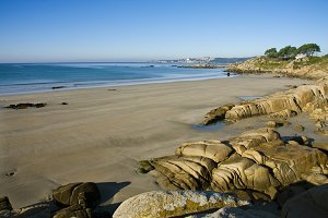 coastal landscape in galicia, spain