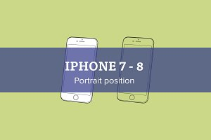 Apple iPhone 7 - 8 Portrait position