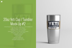 20oz. Yeti Cup / Tumbler Mock-Up #2