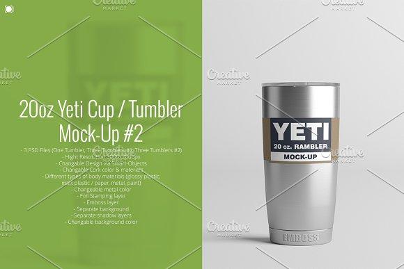 Download 20oz. Yeti Cup / Tumbler Mock-Up #2