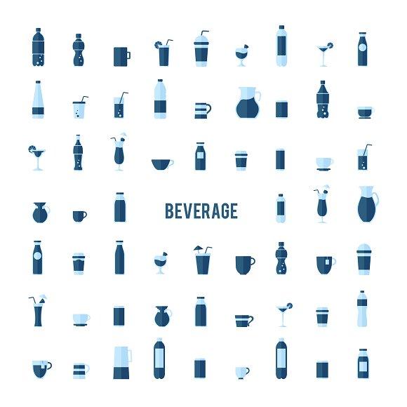 Illustration of beverages in Illustrations